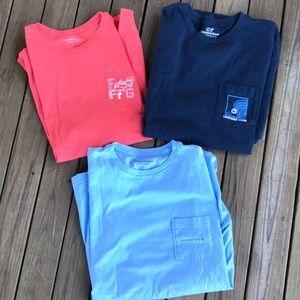 Vineyard Vines lot of 3 pocket t shirts large